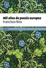 Portada del libro Mil años de poesía europea