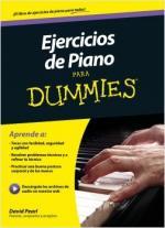 Portada del libro Ejercicios de piano para Dummies