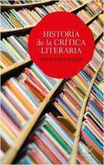 Portada del libro Historia de la crítica literaria