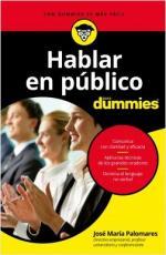 Portada del libro Hablar en público para Dummies