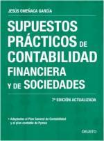 Portada del libro Supuestos prácticos de contabilidad financiera y de sociedades