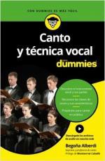 Portada del libro Canto y técnica vocal para Dummies