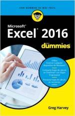 Portada del libro Excel 2016 para Dummies