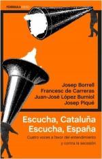 Portada del libro Escucha, Cataluña. Escucha, España