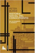 Portada del libro Historia social del conocimiento. De Gutenberg a Diderot