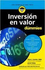 Portada del libro Inversión en valor para Dummies